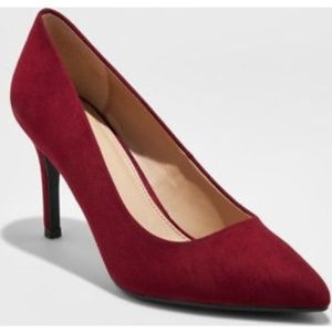 A New Day Burgundy Pointed-Toe Classic Pumps - 11